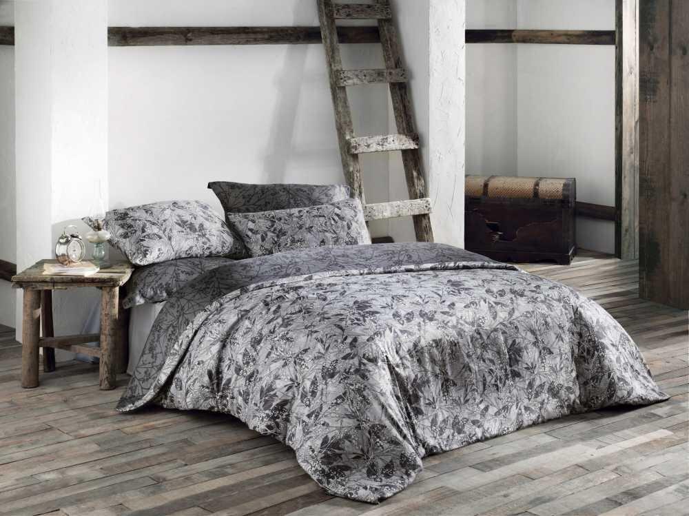 Luxusní saténové povlečení Issimo Home WOODLAND 4x50x70/1x200x220cm + prostěradlo 260x270cm