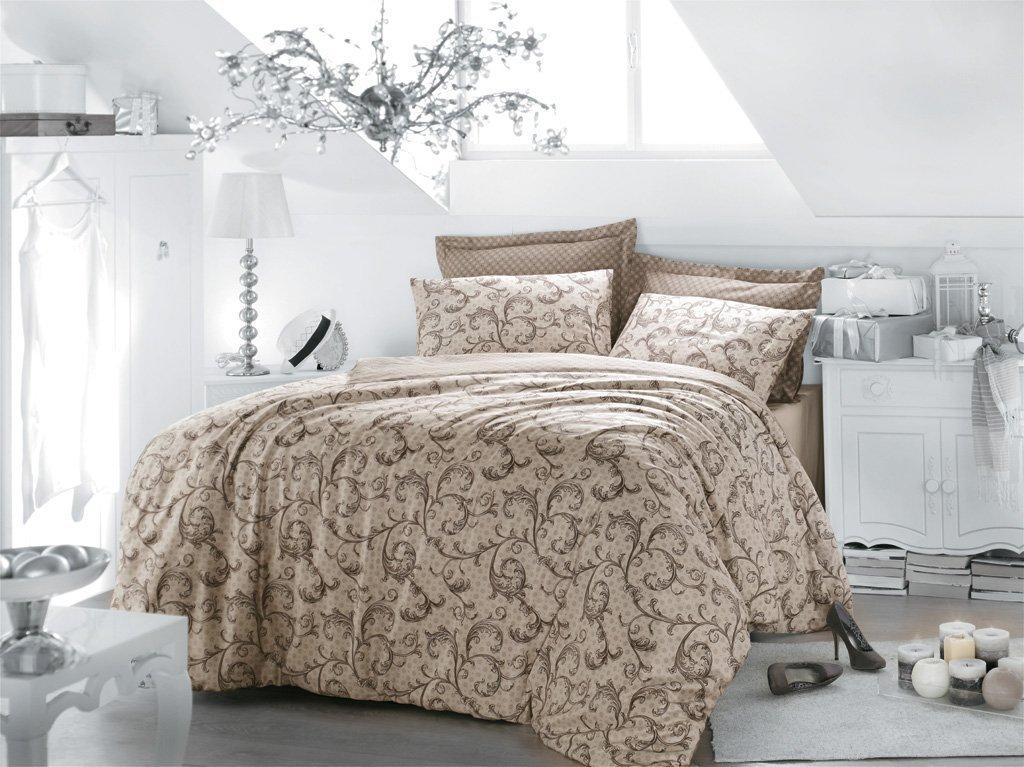 Luxusní saténové povlečení Issimo Home CARAMIA 4x50x70/1x200x220cm + prostěradlo 240x260cm