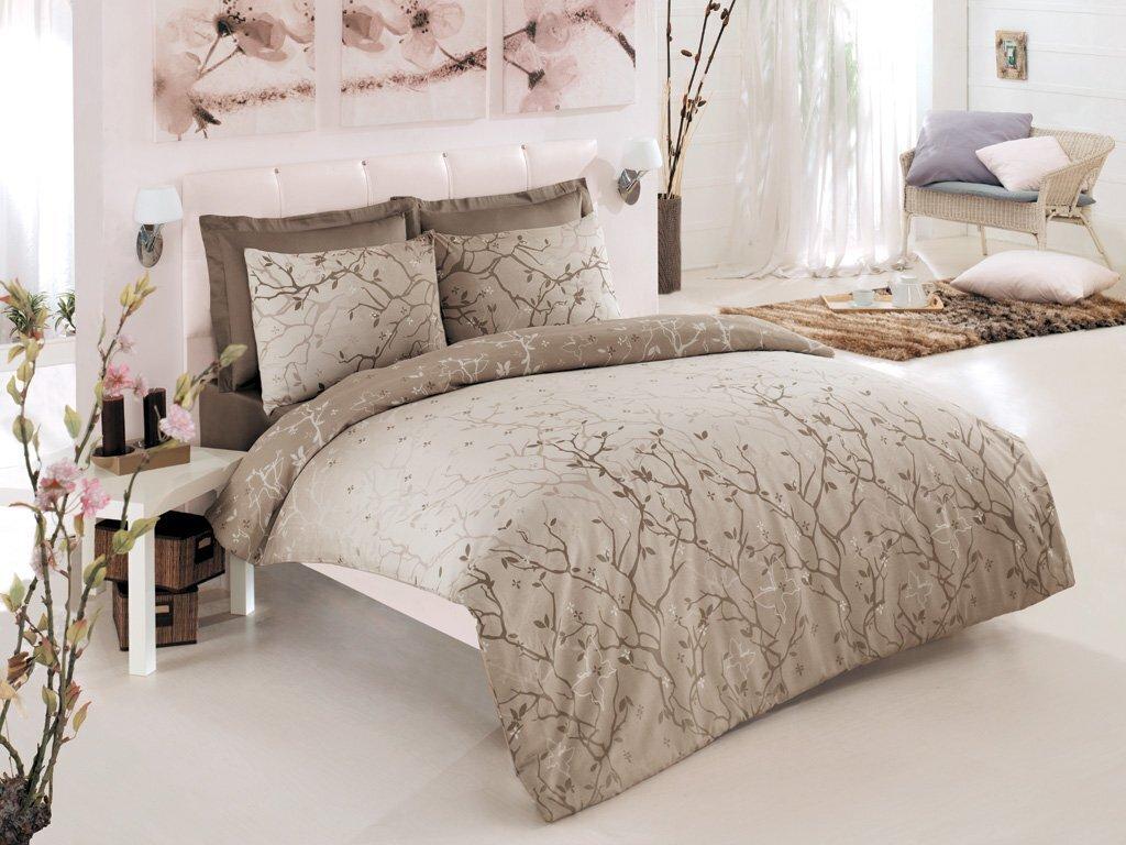 Luxusní saténové povlečení Issimo Home PAMIR 4x50x70/1x200x220cm + prostěradlo 240x260cm