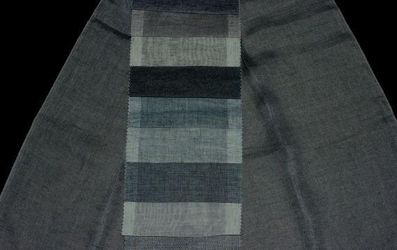 Záclony a závěsy F-0727 Jeans 140 cm 8906249-01 modrá