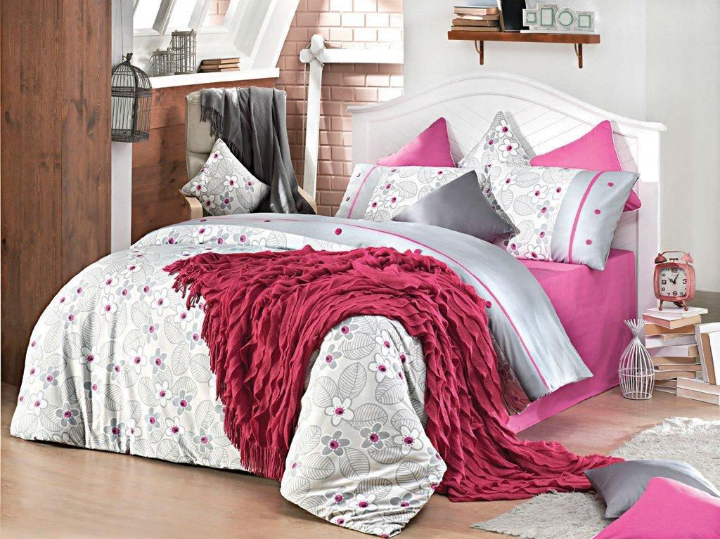 Luxusní povlečení Issimo Home BETSEY FUCHSIA 2x50x70/1x200x220cm + prostěradlo 240x260cm