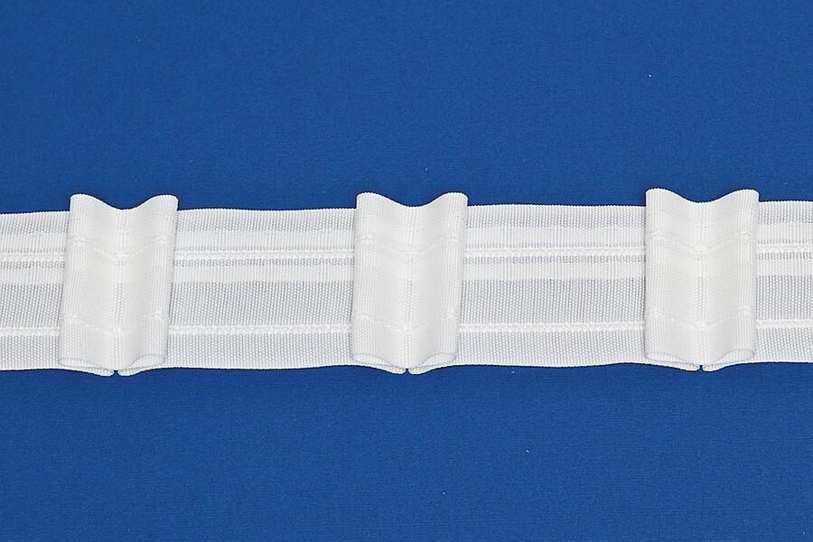 Řasící páska BANDEX TANGO 1:1.85 F2 1040555 - celé balení (100m) řasení: 1:1.85 Bílá