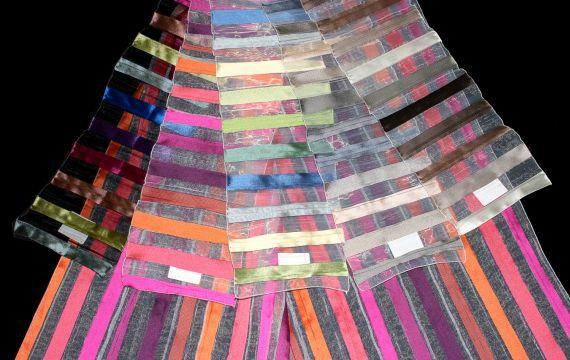 Záclona 3089 Zaffiro 31172 280 cm 00 modrozelenorůžová