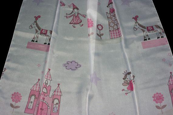 Dětská záclona 2126 180 cm 02 růžová