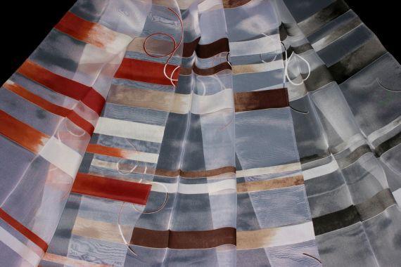Záclona 8872 300 cm - DOPRODEJ 07 černá