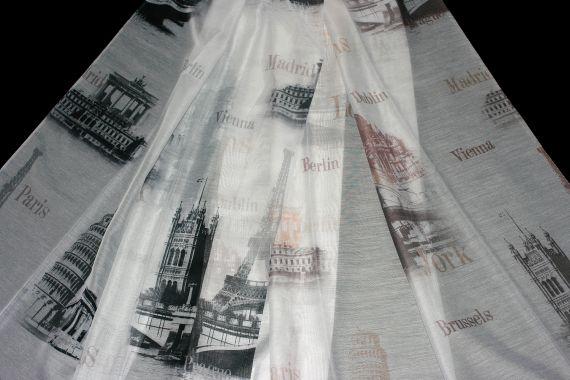Záclona Metropolis 148 cm - DOPRODEJ 090 černá