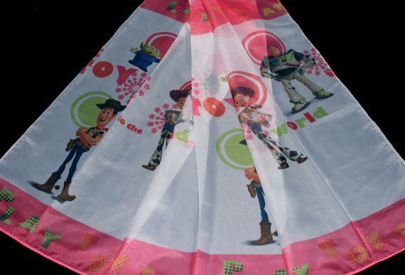 Dětská záclona Play Toys 6149 180 cm růžová