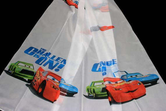 Dětská záclona The Challenge 6124 - Cars 180 cm bílá