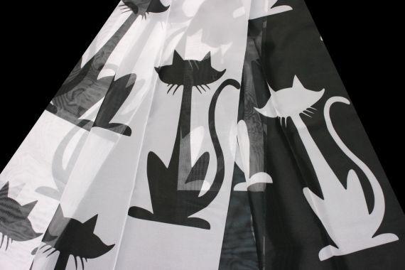 Dětská záclona 11587 145 cm 01 černobílá