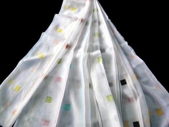 Záclona 9513 180 cm 9 bílo černá